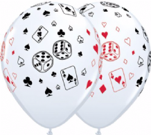 Cards & Dice Balloons - 11 Inch Balloons 25pcs